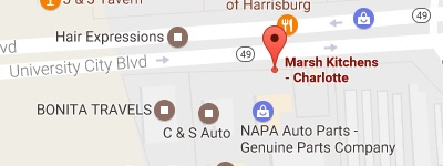 marsh kitchen & bath charlotte map