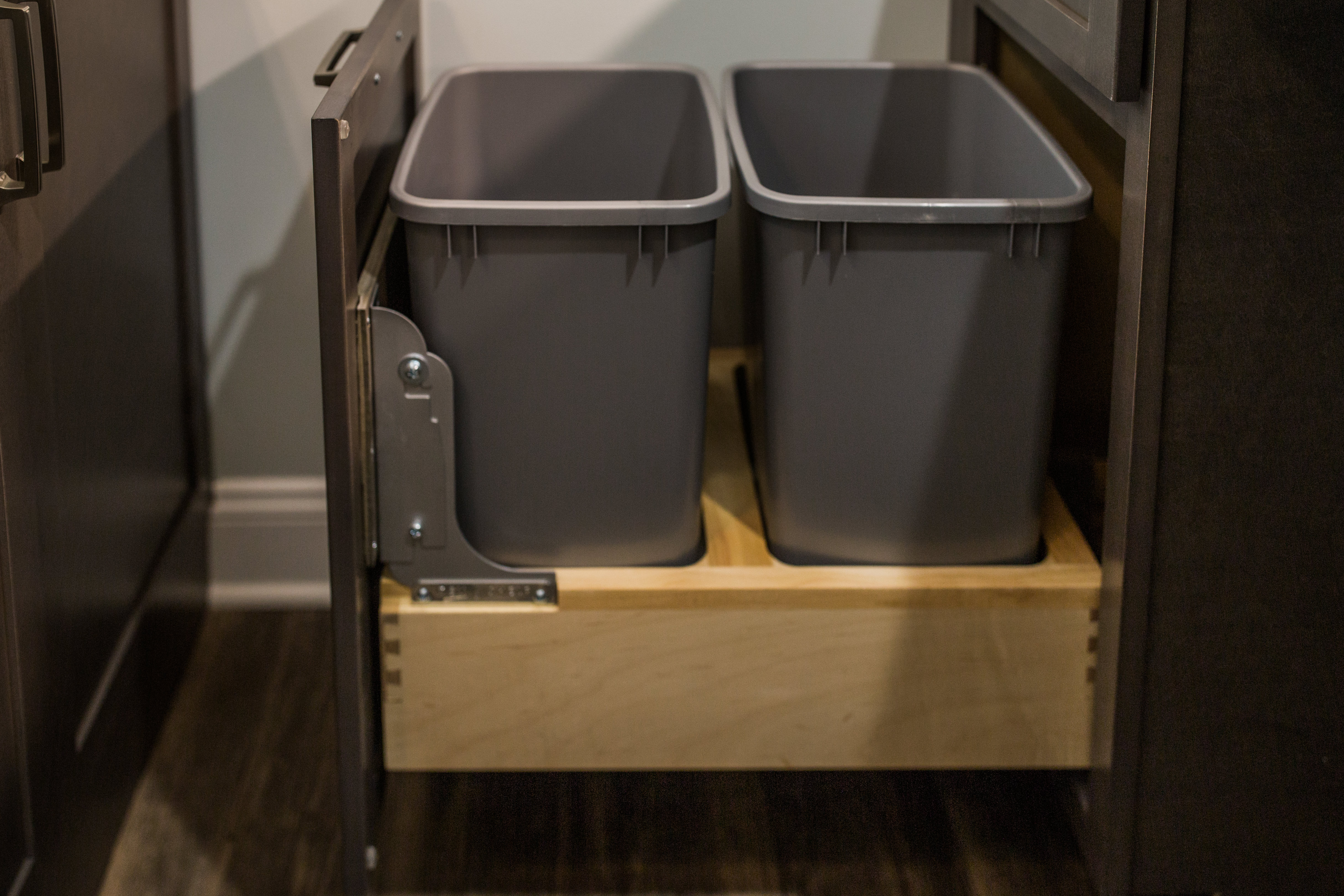 double-trash cabinet