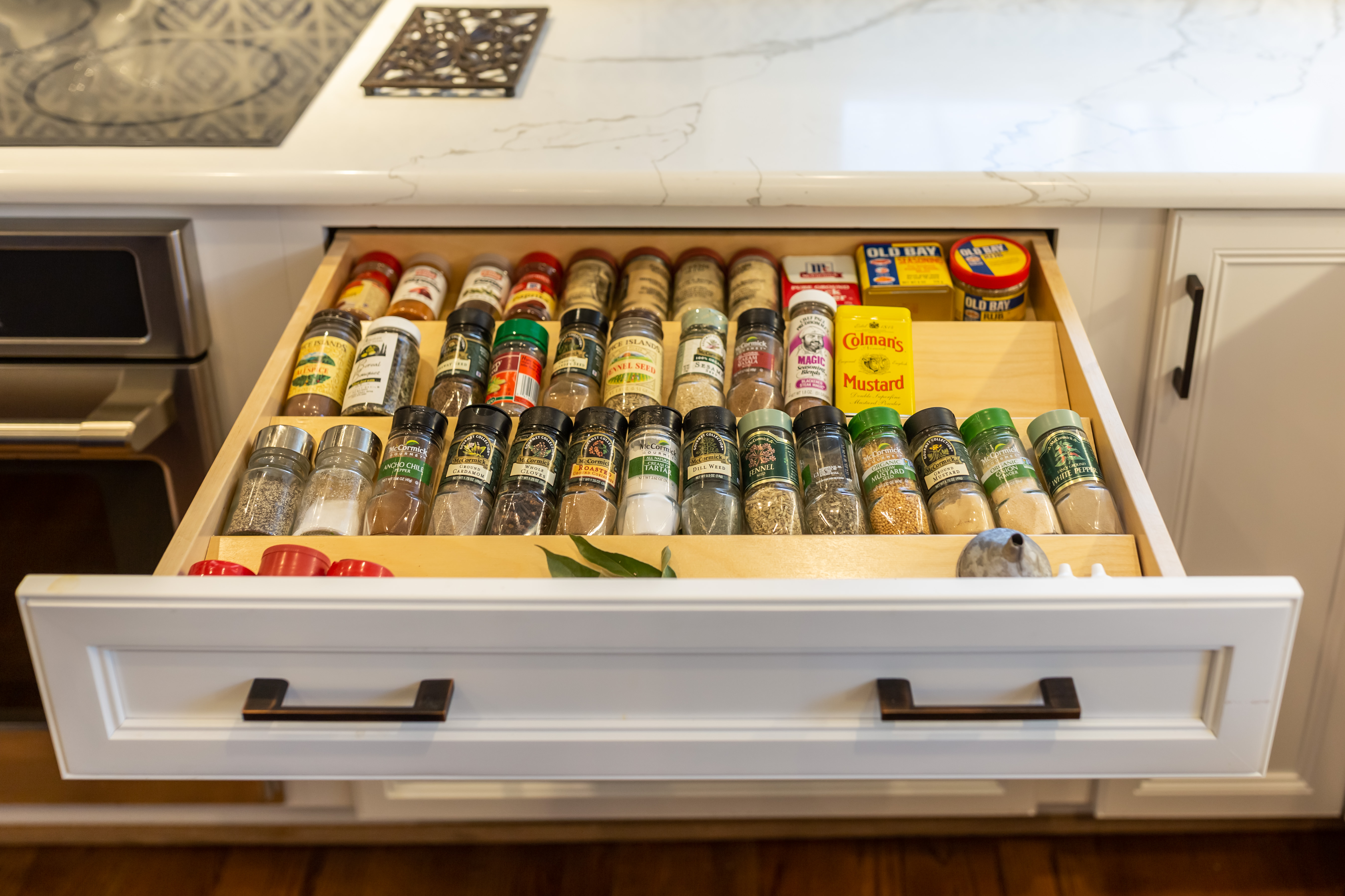 custom cabinet spice drawer
