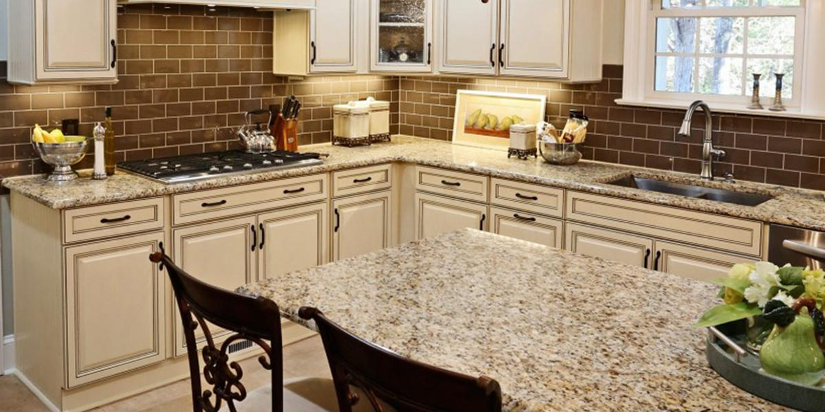 Natural stone kitchen countertops Crushed Glass Your Kitchen Countertop Is One Of The Most Visible Surfaces In Your Kitchen And It Receives The Hardest Use Its Key Element And Luckily You Have More Cheaptartcom Kitchen Countertop Options Stone Countertops